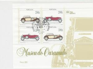 Portugal 1991 Classic Cars Mint Never Hinged Stamps Sheet  Ref 28541