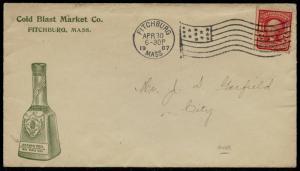 COLD BLAST MARKET Co. JAMES PLAGNIOL 1907 ADVT COVER (BACK FLAP) BQ2518