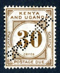 Kenya & Uganda/KUT 1928. SPECIMEN. POSTAGE DUE. 30c brown. Mint Hinged. SG D4.