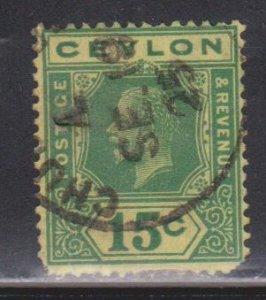 CEYLON Scott # 236a Used - KGV Definitive Watermark 4 Rounded Corner