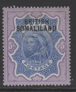 SOMALILAND SG13 1903 5r ULTRAMARINE & VIOLET MTD MINT