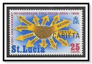 St Lucia #251 Carifta Issue MLH