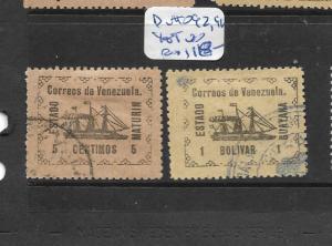 VENEZUELA GUYANA STATE MATURIN (P1604B)  Y&T 92, 96  VFU