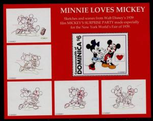 Dominica 1936 MNH Disney, Mickey's Surprise Party