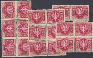 Poland # 164, Polish Eagle, Nh & Hinged, lot of 19 stamps, 10% of Cat.