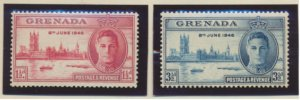 Grenada Stamps Scott #143 To 144, Mint Hinged
