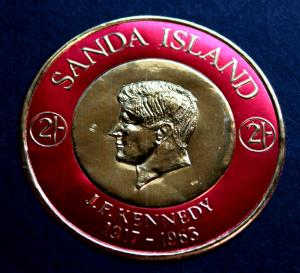 Stamp Sanda Island Great Britain John F. Kennedy JFK Sanda Island 1965