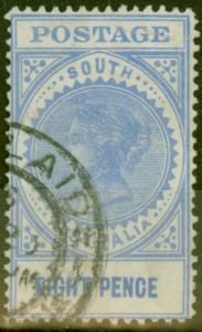 South Australia 1905 8d Brt Ultramarine SG285a Value Closer (15.5mm) Fine Used