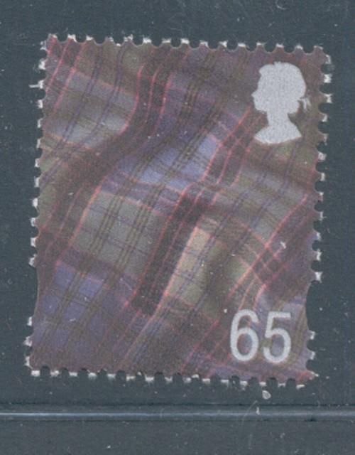 Great Britain Scotland Sc 18 2000 65p Tartan  stamp mint NH