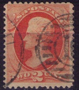 US Sc 178 Used,2c Vermilion F-VF