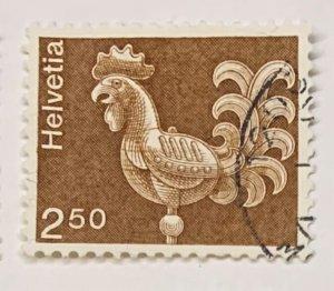Switzerland 577 Used Weather Vane/Rooster (SCV $.50)