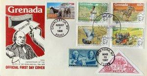 HNLP Hideaki Nakano 3090 RFD Grenada Sir Rowland Hill Invented Postage Stamp