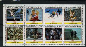 Eritrea 1991 Olympics Games Los Angeles Ovpt.Barcelona Sheet Perforated mnh.vf