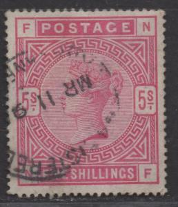 **Great Britian, SC# 108, Used, VF, Light Cancel, Sound Single Stamp