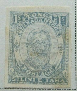 TONGA Oceania Protectorate Kingdom 1893 1s VF MNG Old Forgery A8P16F15