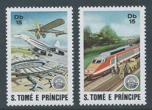 St. Thomas & Prince Isl. #651-2 NH PhilexFrance '82 - Tra...