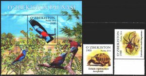 Uzbekistan. 2016. 1148-49, bl81. Fauna of Uzbekistan. MNH.