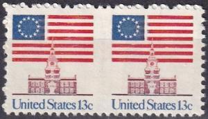 US #1622a MNH Imperf Between Pair CV $40.00  (A19294)