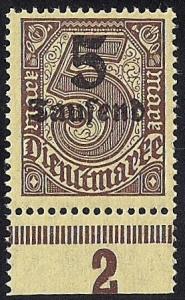 Germany #O29 5th M on 5M Official Stamp Mint OG NH VF