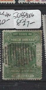 NORTH BORNEO   (P2704B)  $2.00  ARMS, LION  SG 84  VFU