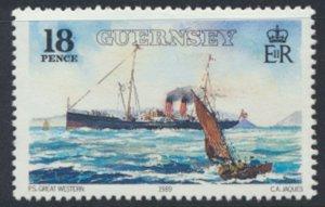 Guernsey Channel Islands SG 464 Used GWR Railway Steamer 1989 SC# 412 See scan