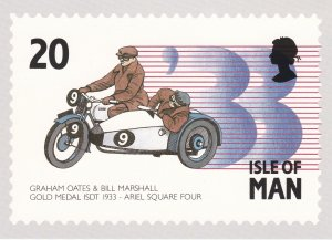Isle of Man # 562-566, Motorcycle Racing, Maxi Cards, Mint Unused