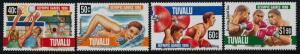 Tuvalu 717-20 MNH Summer Olympics, Volleyball, Swimming, Boxing