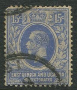 East Africa & Uganda - Scott 45 - KGV Definitive -1912 - Used -Single 15c Stamp
