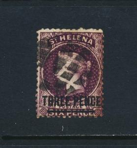 ST HELENA 1868, 3d VF USED SG#11 CAT£50 $65 (SEE BELOW)