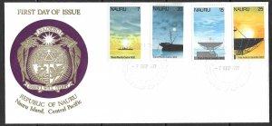 NAURU 1977 Transpacific Cable Anniversary Set Sc 152-155 on Cachet FDC