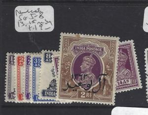 MUSCAT  (P0609BB) ON INDIA  KGVI  SG 5-8, 13, 15   MOG