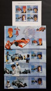 Formula 1 pilots - Congo 2006 - sheet + complete set of 4 ss imperf ** MNH