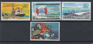 KENYA 1983  I M O ANNIVERSARY  SET OF 4   MNH  NO 2
