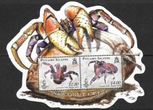PITCAIRN ISLANDS SGMS778 2009 COCONUT CRAB MNH