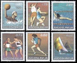 Yugoslavia 1972 Sc 1093-98 MNH vf Olympics-Munich '72