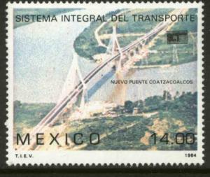 MEXICO 1366, INAUGURATION OF COATZACOALCOS BRIDGE. MINT, NH. F-VF.
