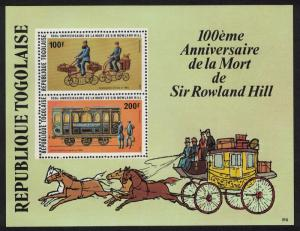 Togo Death Centenary of Sir Rowland Hill MS SG#MS1373 SC#C387a