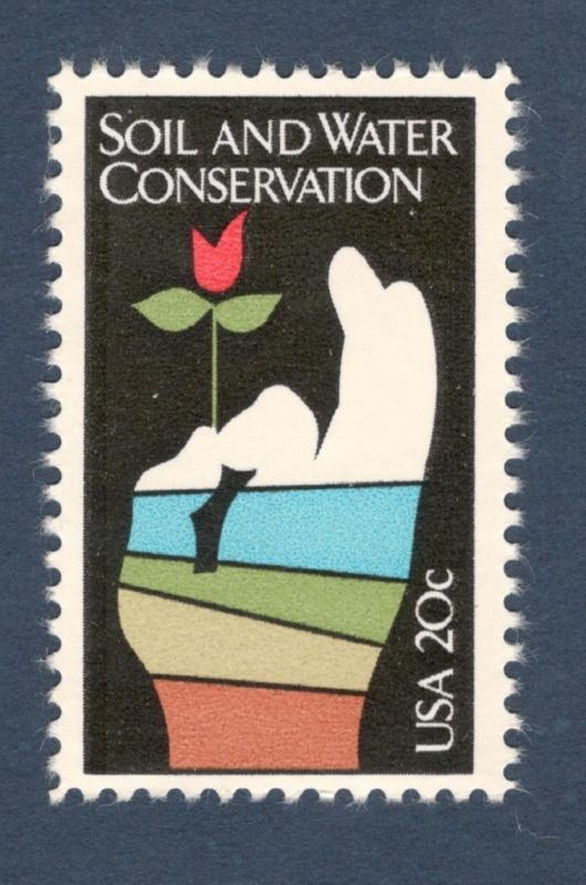 2074 Soil & Water Conservation US Single Postage Stamp Mint/nh (Free Shipping)
