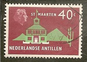 Netherlands Antilles  Scott    252   Town Hall   Used