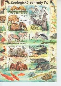 2019 Czech Republic Zoological Gardens IV Nature Protect MS4/lbls (Scott NA) MNH