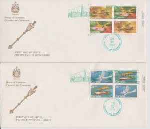 CANADA FDC FROM HOUSE OF COMMONS STAMPS #843-846  LOT#M113