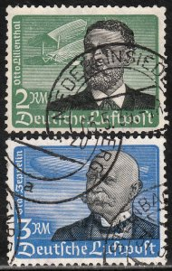 Germany C55-C56 2 & 3M Early Air Mail HIGH VALUES Used. VF. (26)