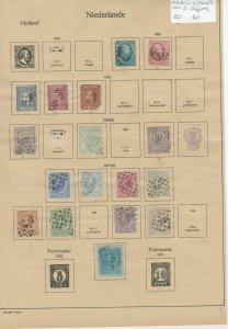 Netherlands Early Stamps on 2 Pages Ref: R6858