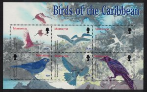 Montserrat Birds of the Caribbean 2 MSs 2003 MNH SG#MS1246