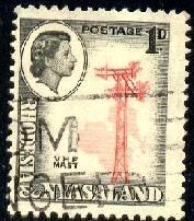 V. H. F. Mast, Rhodesia & Nyasaland stamp SC#159 Used