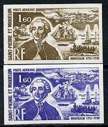 St Pierre & Miquelon 1972 Revaluation 1f60 Montcalm &...