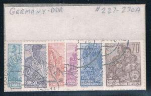Germany DDR 227-230A Used set Scenes (G0236)