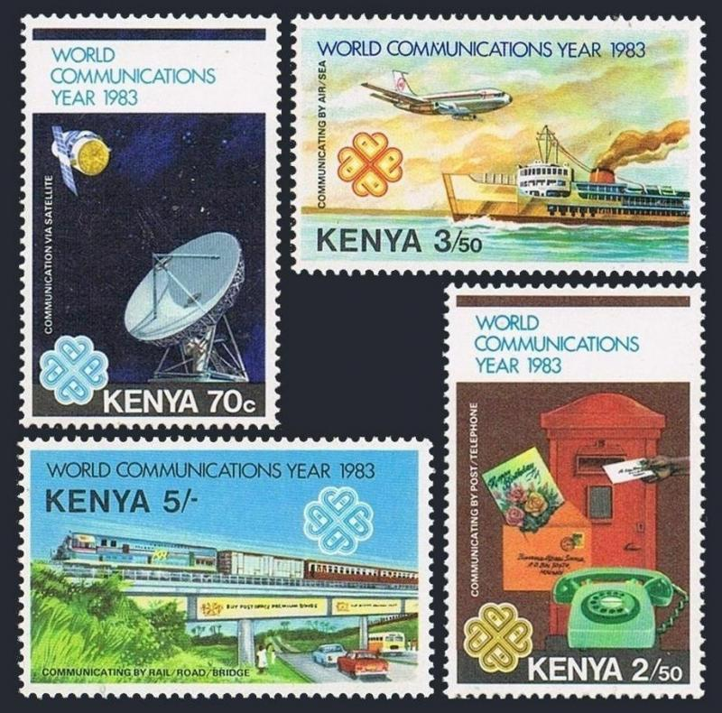Kenya 266-269,MNH.Michel 263-266.Communication Year WCY-1983.Transport,Satellite
