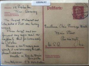 Germany 1920 Used Stamps Postcard to Cincinnati, Ohio