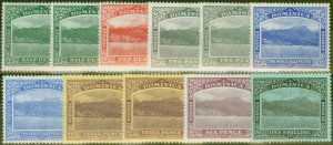 Dominica 1908-20 set of 11 to 1s SG47-53 Fine Mtd Mint